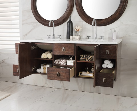 "Sonoma 60"" Double Bathroom Vanity 860-V60D-CFO-3AF from James Martin Furniture"