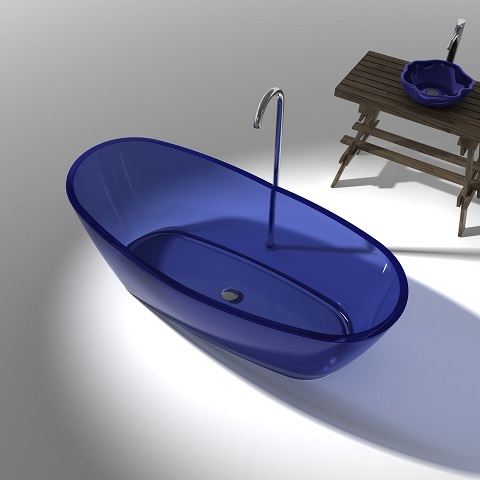 Ember Freestanding Bathtub In Regal Blue FT521BL-0025 from Anzzi