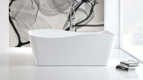 Ondulato White Freestanding Bathtub KFST7659 from KubeBath