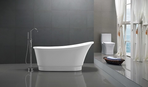 Prima Freestanding Bathtub In White FT-AZ095 from Anzzi
