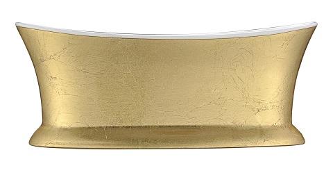 Queen Series Freestanding Bathtub in Locket Gold FT-AZ537 from Anzzi
