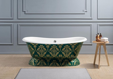 Traditional Cast Iron Soaking Freestanding Tub R5320CH from Streamline Bath