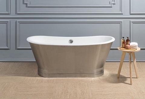 """67"""" Soaking Freestanding Tub R5040CH from Streamline Bath"""