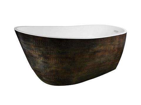 Bouie Freestanding Bathtub FT-AZ069 in Caiman Skin from Anzzi