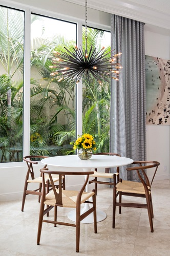 In An Open Greatroom A Single Bold Decorative Lighting Fixture Can Really Help Add
