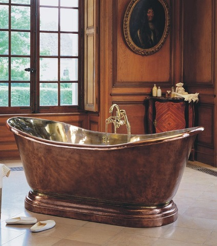 Medicis Copper Freestanding Soaking Tub 0711 from Herbeau