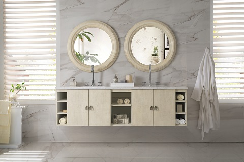 "Sonoma 72"" Double Bathroom Vanity in Vanilla Oak 860-V72-VNO from James Martin Furniture"