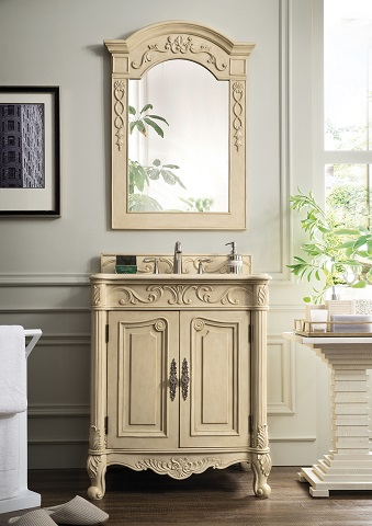 "St. James 30"" Single Bathroom Vanity in Parchment 207-SJ-V30-PA from James Martin Furniture"