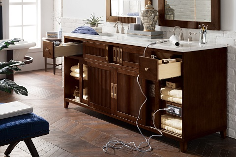 "Brisbane 72"" Double Bathroom Vanity 516-V72-WME from James Martin Furniture"