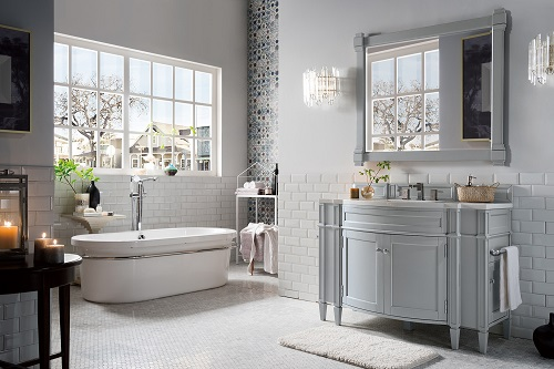 "Brittany 46"" Single Bathroom Vanity In Urban Gray 650-V46-UGR from James Martin Furniture"