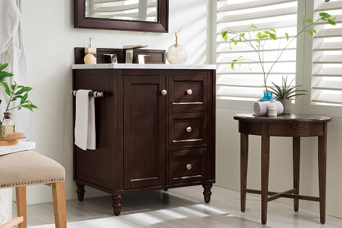 "Copper Cove Encore 30"" Single Bathroom Vanity in Burnished Mahogany 301-V30-BNM from James Martin Furniture"