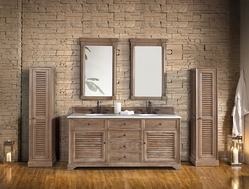 "Savannah 72"" Driftwood Double Bathroom Vanity 238-104-5711-3AF from James Martin Furniture"