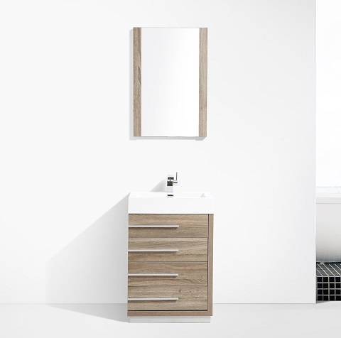 "Barcelona 30"" Bathroom Vanity in Cart Oak 005-30-06 from Blossom"
