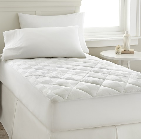 Dobby Square Cotton Mattress Pad 5300MPDG-WHT-CK from Amrapur