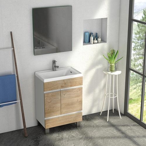 "Petite Plus 24"" White Oak Bathroom Vanity EVVN540-24WH-OAK from Eviva"
