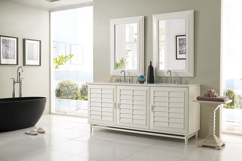 "Portland 72"" Double Bathroom Vanity 620-V72-CWH from James Martin Furniture"