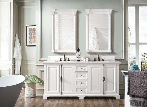 "Providence 72"" Double Bathroom Vanity Cabinet 238-105-V72-CWH from James Martin Furniture"