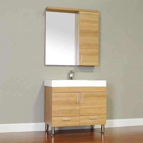 "Ripley 36"" Single Modern Bathroom Vanity Set in Light Oak AT-8089-LO from Alya"