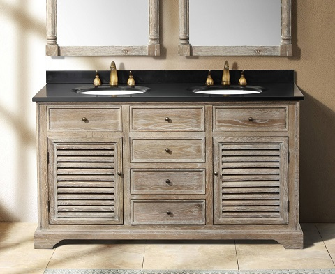 "Savannah 60"" Driftwood Double Bathroom Vanity 238-104-5611-4DSC from James Martin Furniture"