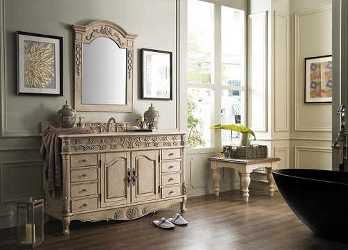 St. James 60: Single Bathroom Vanity in Empire Linen 207-SJ-V60S-EL from James Martin Furniture