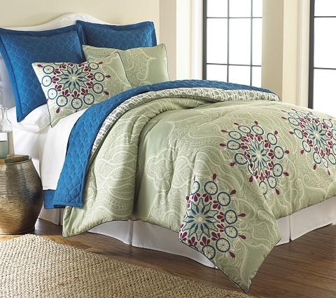 Zarine King Comforter Set 4CFCVSTG-ZRN-KG from Amrapur