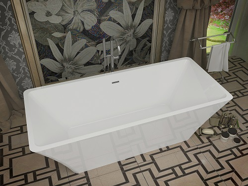 Arden One Piece Acrylic Freestanding Bathtub FT-AZ006 from Anzzi