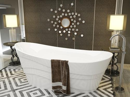 Stratus One Piece Acrylic Freestanding Bathtub FT-AZ084 from Anzzi