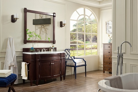 "Brittany 46"" Single Bathroom Vanity in Burnished Mahogany 650-V46-BNM from James Martin Furniture"