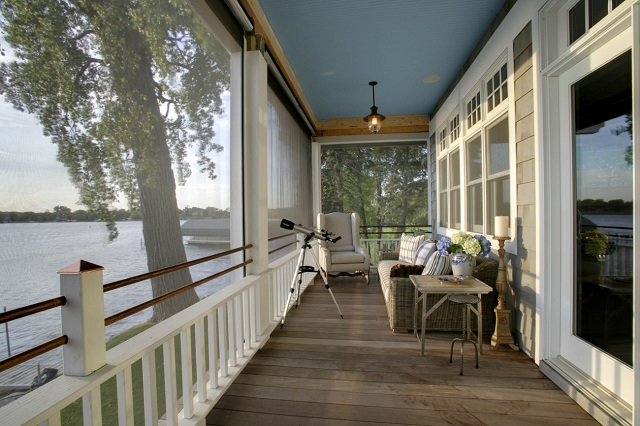 A staple of southern architecture, covered porches let you enjoy a beautiful summer evening bug-free and safe from unexpected showers (by Design Innovations)