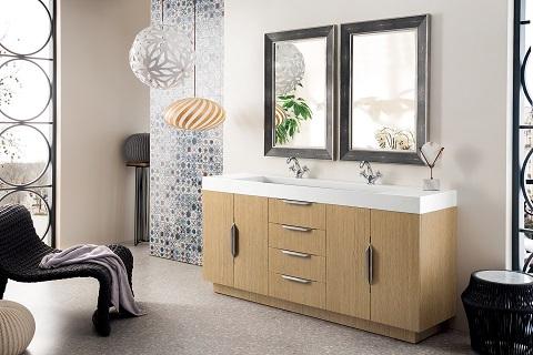 "Bainbridge 72"" Double Bathroom Vanity in Tribeca Oak 368-V72D-TBO from James Martin Furniture"
