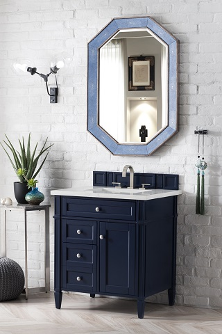 "Brittany 30"" Single Bathroom Vanity in Victory Blue 650-V30-VBL from James Martin Furniture"
