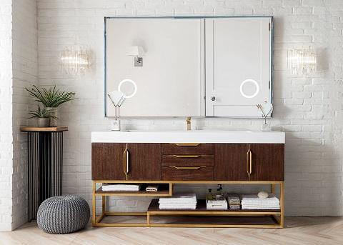 "Columbia 72"" Single Bathroom Vanity in Coffee Oak 388-V72S-CFO-RG-GW from James Martin Furniture"