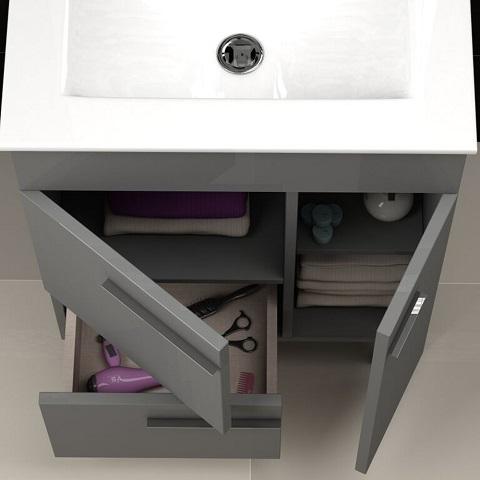"Cup 24"" Grey Modern Bathroom Vanity EVVN521-24GR from Eviva"