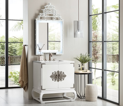 "Echo Park 30"" Single Bathroom Vanity in Glossy White 887-V30-GW from James Martin Furniture"