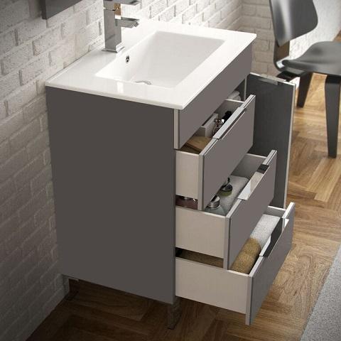 "Geminis 28"" Grey Modern Bathroom Vanity EVVN530-28GR from Eviva"