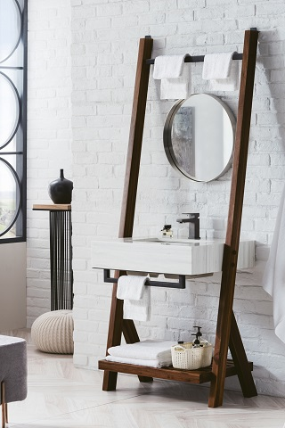 "Lakeside 30"" Single Bathroom Vanity in Midcentury Walnut 410-V30-WLT from James Martin Furniture"