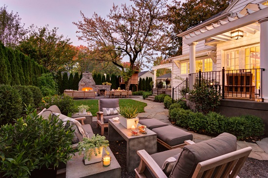 Most outdoor improvements involve a big project, but a few updates to your outdoor furniture can make a big difference (by Shapiro Didway)