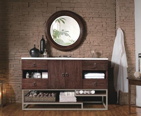 """Sonoran 60"""" Single Bathroom Vanity in Coffee Oak 864-V60S-CFO-3EJP from James Martin Furniture"""
