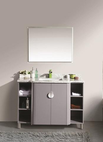 "Vienna 48"" Satin Lulxuries Grey Modern Bathroom Vanity EVVN800-48GR from Eviva"