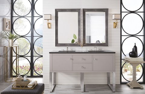 "Westlake 60"" Double Bathroom Vanity in Mountain Mist 311-V60D-MTM from James Martin Furniture"