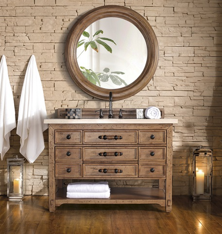 "Malibu 48"" Single Bathroom Vanity 500-V48-HON in Honey Alder from James Martin Furniture"