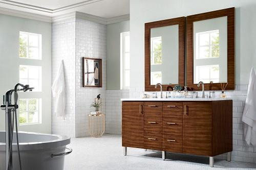 """Metropolitan 60"""" Double Bathroom Vanity 850-V60D-AWT-3EJP from James Martin Furniture"""