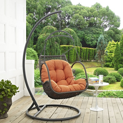 Arbor Outdoor Patio Wood Swing Chair EEI-2279-ORA-SET from Modway Furniture
