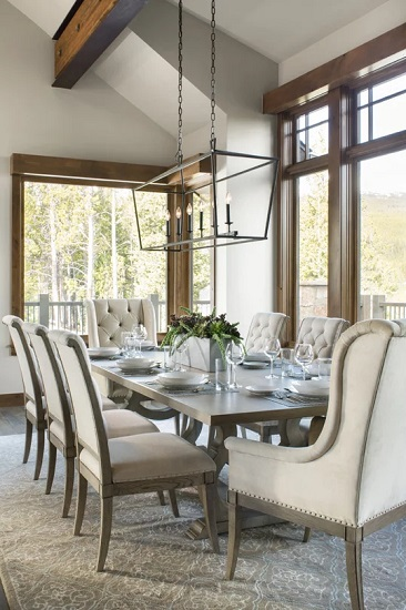 The most common perception of formal dining chairs are traditional chairs with all the bells and whistles (by Collective Design + Furnishings)