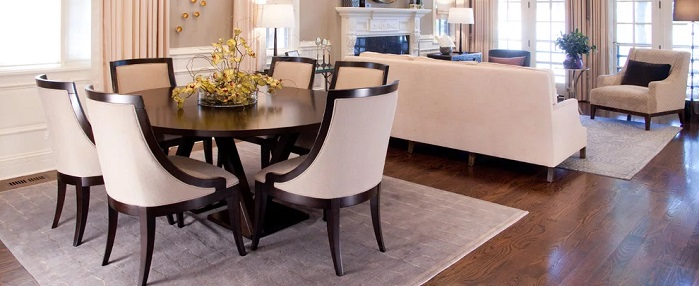 Dining Room With Upholstered Chairs, Formal Dining Room Chairs