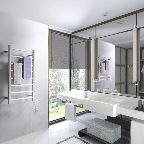 Adding a towel warmer to your bathroom gives maybe the most obvious luxurious returns of the projects on this list, especially if your bathroom is on the chilly side