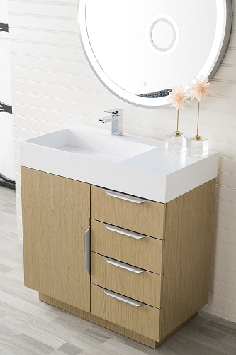 "Bainbridge 36"" Single Bathroom Vanity in Tribeca Oak 368-V36-TBO from James Martin Furniture"