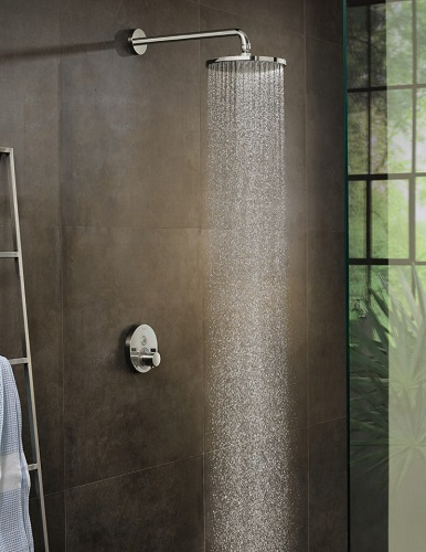 Building an entirely custom shower is one of the biggest and most expensive bathroom renovations you can undertake, but it only takes five minutes and the cost of parts to upgrade to a luxury rainfall shower head