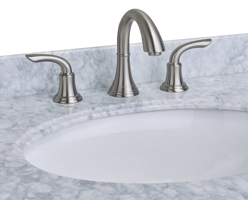 If you have an old, corroded, or cheap bathroom faucet, spending a few hundred dollars on a luxurious widespread faucet can significantly elevate the look and feel of your space