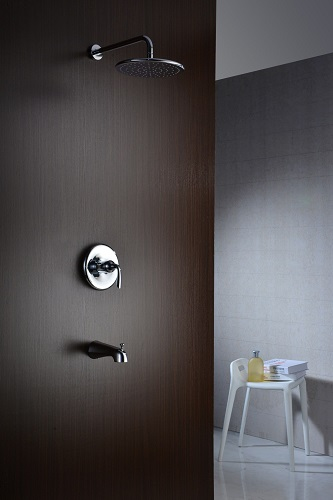 Meno Series Single-Handle 1-Spray Tub And Shower Faucet SH-AZ032BN in Brushed Nickel from Anzzi